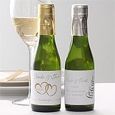 Personalized Wedding Favors - Small Wine Bottles - 7143D