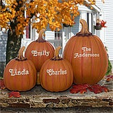 Decorative Personalized Fall Pumpkins