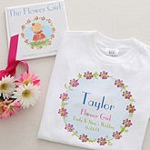 Personalized Flower Girl Gifts - Flower Girl Shirt & Book Set - 7149