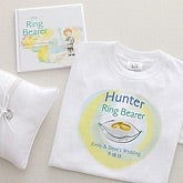 Personalized Ring Bearer Gifts - Ring Bearer Shirt & Book Set - 7150