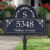Custom Monogram Personalized Address Magnet