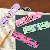 Kids Designs Personalized Girls Bookmarks - 7163
