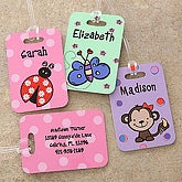 Personalized Kids Luggage Tags for Girls - 7172