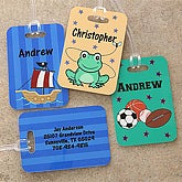Personalized Kids Luggage Tags for Boys - 7173
