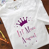 Birth Month Personalized Girls Baby Romper