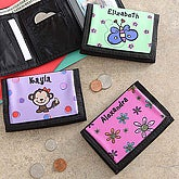 Personalized Wallets for Girls - Kids Designs - 7183