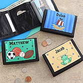 personalized boy's wallet