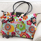 Ladies Personalized Floral Folding Handbag - 7187