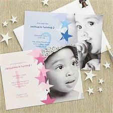 Birthday Star Personalized Birthday Invitations - 7207
