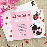 Ladybug Personalized Girls Party Invitations - 7209