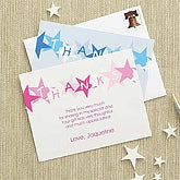 Boys Personalized Thank You Cards - Blue Stars