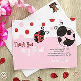 Personalized Girls Thank You Cards - Ladybug - 7226