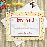 Personalized Thank You Cards - Polka Dots - 7227