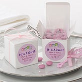 Personalized Baby Shower Party Favor Boxes - It's A Girl - 7229