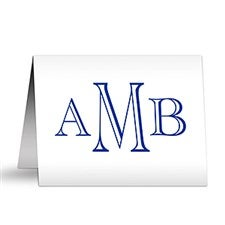 Custom Monogram Personalized Note Cards - 7231