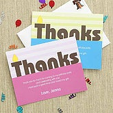 Boys Personalized Thank You Cards - Birthday Wishes