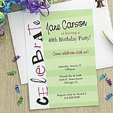 Celebrate Personalized Birthday Party Invitations - 7236