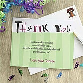 Custom Printed Personalized Celebration Thank You Cards - 7237