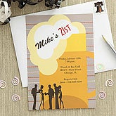 Beer Mug Personalized Birthday Party Invitations - 7244