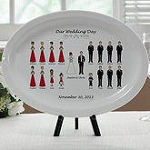 Personalized Wedding Gift Platter - Bridal Party Characters - 7264
