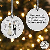 Wedding Party Characters Personalized Ornament