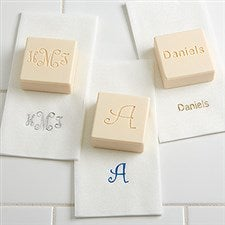 Custom Monogram Personalized Guest Soaps & Towels Set - 7277D