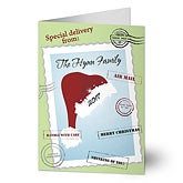 Across The Miles Personalized Santa Hat Christmas Cards - 7293