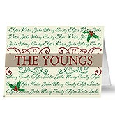 Personalized Family Names Holiday Greeting Cards - 7295