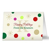 Family Monogram Personalized Holiday Greeting Cards - 7298