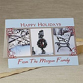 Personalized Holiday Greeting Cards - Winter Scenes - 7301