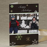 Winter Snowflakes Personalized Photo Christmas Cards - 7303