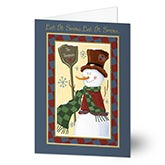 Personalized Christmas Cards - Old Fashioned Snowman - 7310