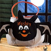 Personalized Halloween Bat Trick or Treat Bag - 7344