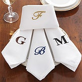 Elegant Linens� Embroidered Dinner Napkin Set of 4