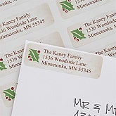 Personalized Address Labels - Christmas Holly - 7356