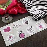 Personalized Bachelorette Party Stickers - 7361