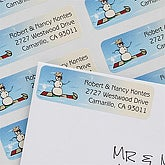 Snowman Personalized Christmas Address Labels - 7380
