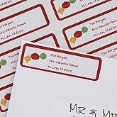 Christmas Ornaments Personalized Address Labels - 7397