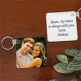 Personalized Photo Keychain for Couples - 7413