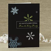 Personalized Snowflakes Greeting Card - 7415