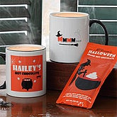 Kids Personalized Halloween Hot Chocolate Mug & Cocoa Set - 7423