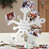 Magnetic Snowflake© Personalized Photo Holder
