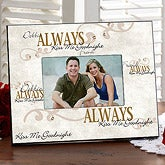 Kiss Me Goodnight Personalized Picture Frame for Couples - 7443