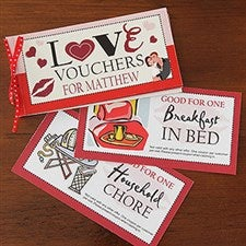Personalized Coupon Book Romantic Gift - Vouchers Of Love - 7454