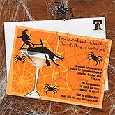 Personalized Halloween Cocktail Party Invitations - 7458