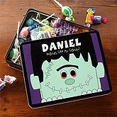 Personalized Halloween Candy Tin - Frankenstein - 7462