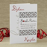 Romantic Personalized Greeting Cards - Soul Mates - 7472