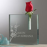 Love Blooms Personalized Glass Bud Vase - 7474