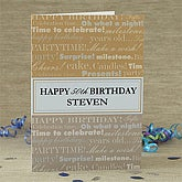 For His Birthday© Personalized Greeting Card