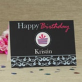 For Her Birthday© Personalized Greeting Card